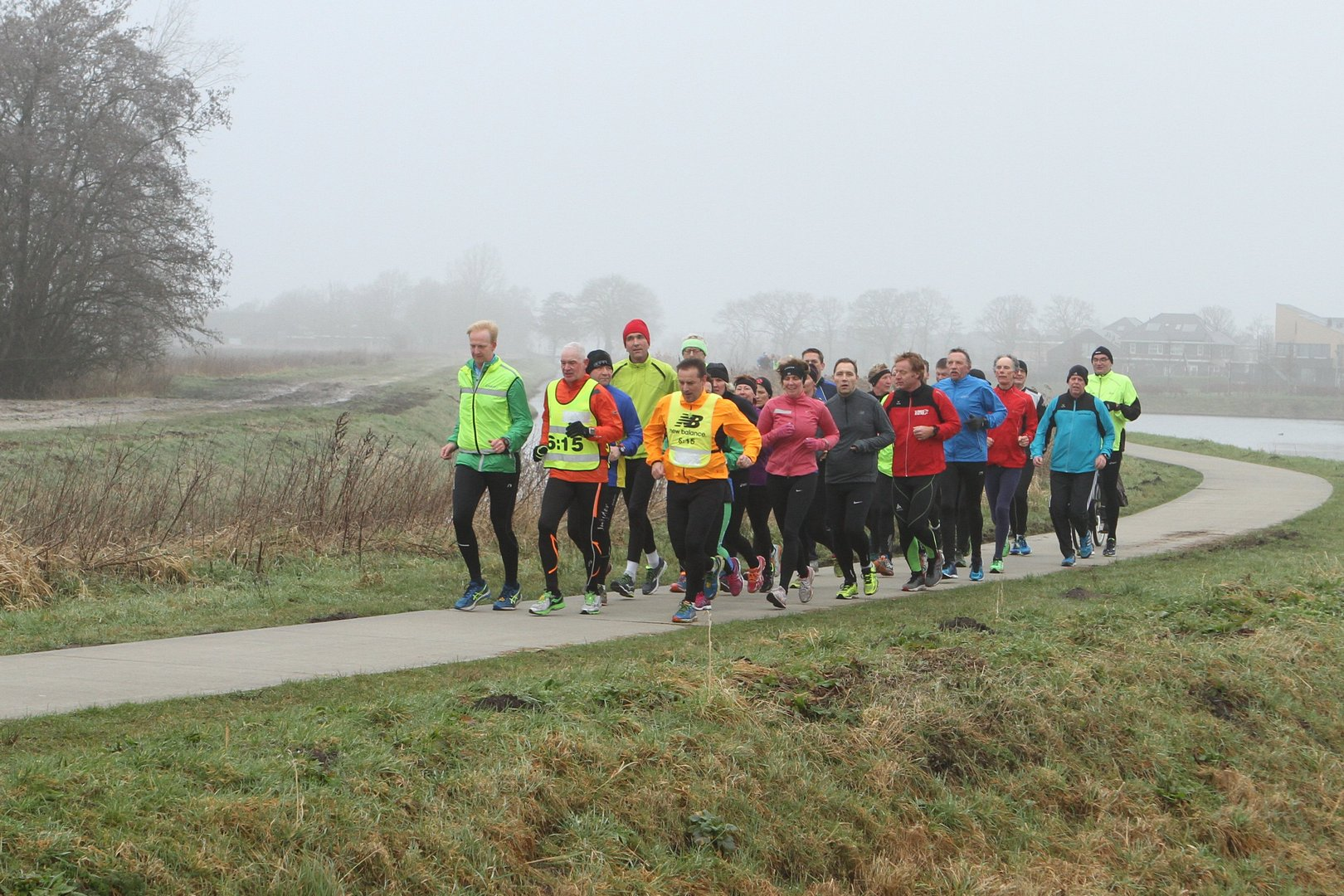 25 km Trainings-Duurlopen R2R zaterdag 13 febr 2016